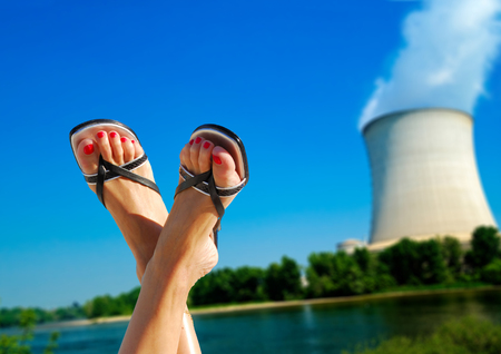 npp: nuclear environmental issues Stock Photo