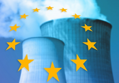 npp: representing about nuclear power plants in europe Stock Photo