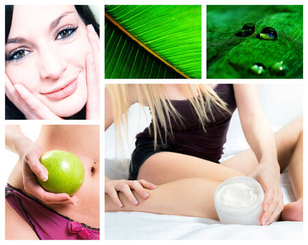 composition on natural body care photo