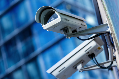 city surveillance: security camera and urban video