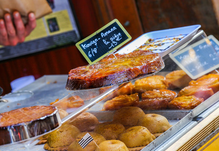 calorie rich food: kouign amann traditional french sweet from britany