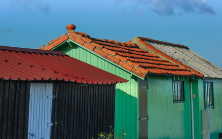 fishermens: Colorful fishermens huts Stock Photo