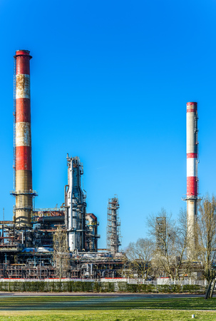 View on Oil refinery  unit in the countryside photo