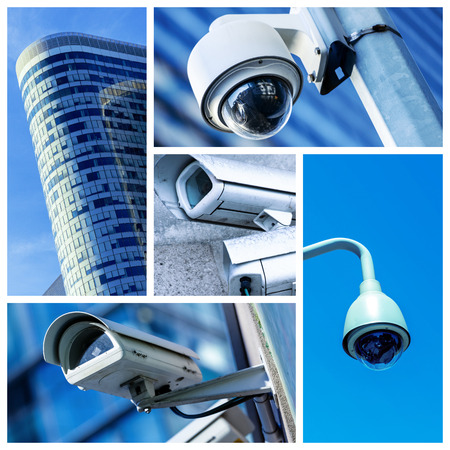 security equipment: security camera and urban video