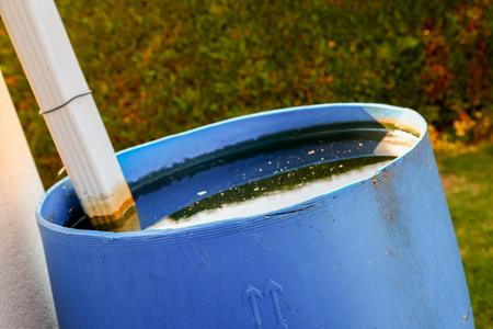 closeup on rainwater recuperator photo