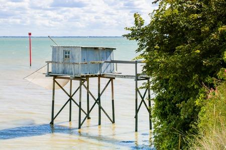 hobby hut: Fishing cabin and carrelet net, near Bordeaux, France