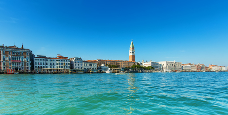 the campanile: View of the Campanile in San marcos square in Venice, Italy.