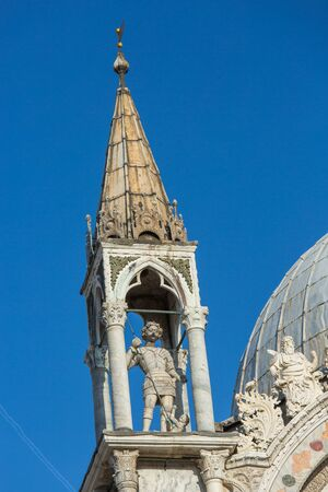 marco: Architectural detail of San Marco Cathedral in Venise Stock Photo