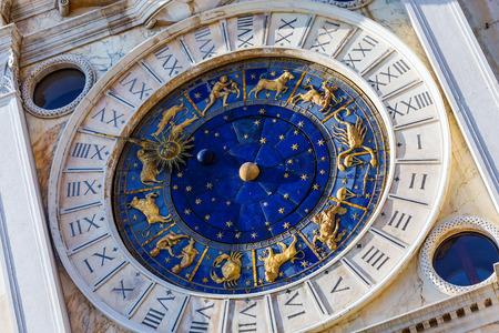esoterismo: Primer en el Reloj astron�mico en la plaza San Marco, Venecia, Italia.