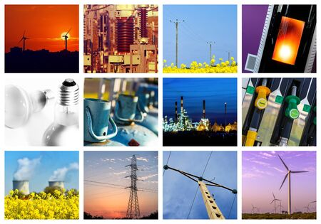 generator industry: Collage of Power and energy concepts
