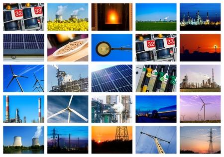 energia electrica: Collage de los conceptos de potencia y energ�a