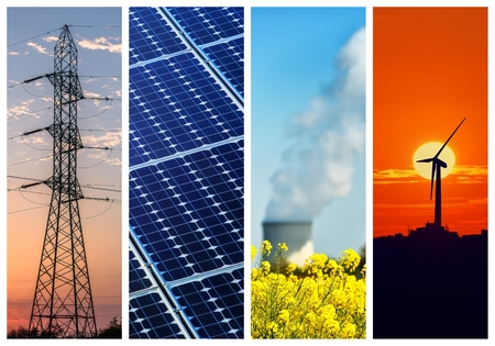 electric power: Collage of Power and energy concepts