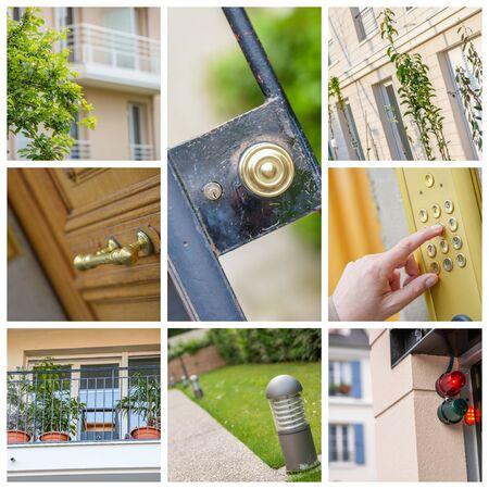 illustrating: collage illustrating the real estate market