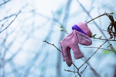 muerte: La metáfora que ilustra la muerte de un niño o de un aborto Foto de archivo