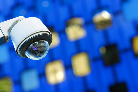 overseeing: security camera and urban video