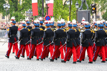 battalion: Close-uo of Military parade during the ceremonial Stock Photo