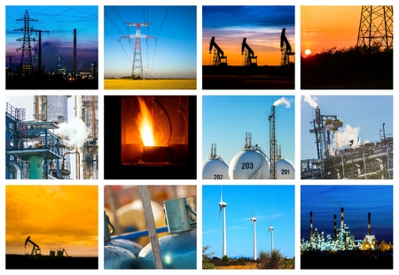 brent: Collage of Power and energy concepts and products