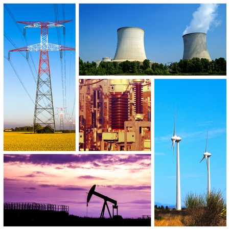 Collage of Power and energy concepts and products