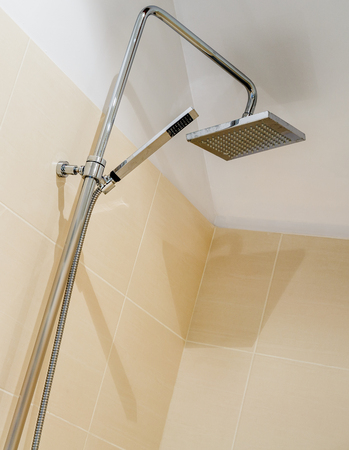close up of an Italian shower in a modern bathroom Reklamní fotografie