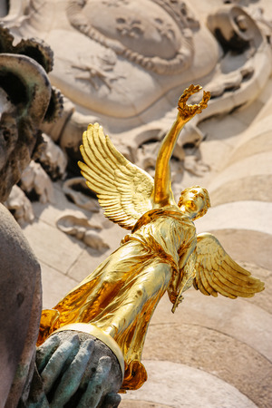 iii: columns and statues of Pont Alexandre iii in Paris