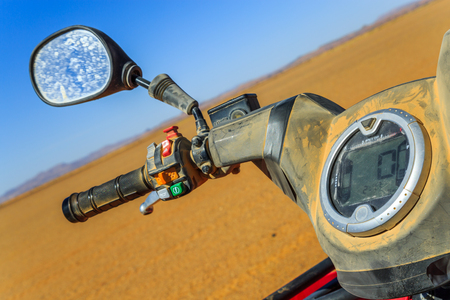 quad: Part of quad close-up in desert