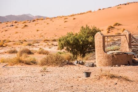 sahara desert: Water well in Sahara Desert