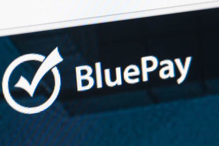 paypal: Paris, France - January 03, 2017 : BluePay homepage on the computer screen. PayPal is an online payments system