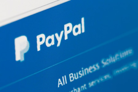 Paris, France - January 03, 2017 : PayPal homepage on the computer screen. PayPal is an online payments system Editorial