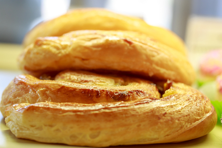 closeup on french grape bread