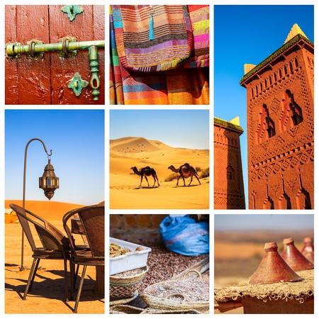 Zusammensetzung, die Details der marokkanischen Wüste zeigt Standard-Bild - 72752126