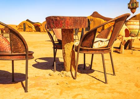 Traditional berber nomad hostel in the desert Morocco