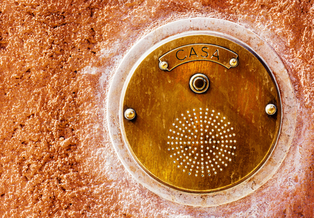 old bell button at a villa in Italy Stock Photo