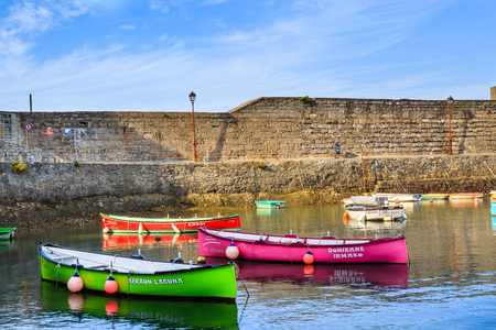basque country: Ciboure, France - Sept 26, 2016: Fishing harbour of Ciboure, Basque country. Small coloreful fish boats on the old port of the citadel Editorial