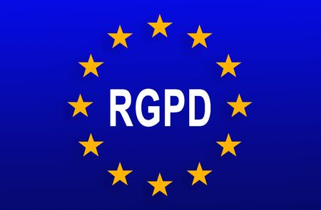 Flag of European Union with RGPD word inside