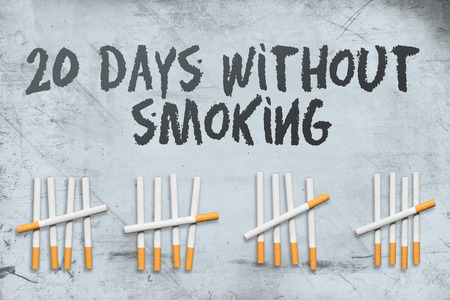Concept about 20th day of smoking cessation Stok Fotoğraf