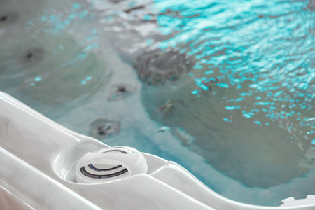 view of the high pressure nozzles of a jacuzzi bath tubs at spa
