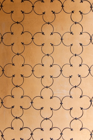 mediterranean style iron fence