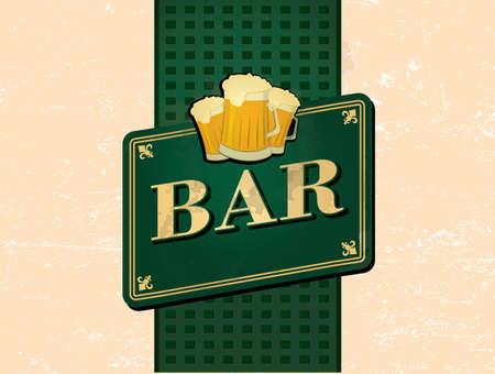 retro bar design Illustration