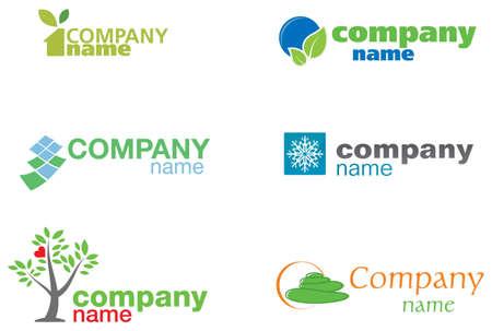 nature green logos Vector