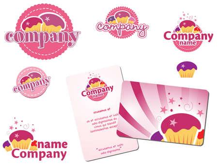 cupcake logos Vector
