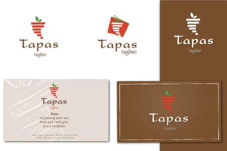 healthiness: logotipos retro restaurante Vectores