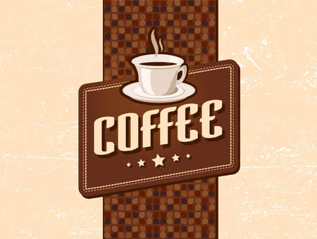 coffee retro retro Vector