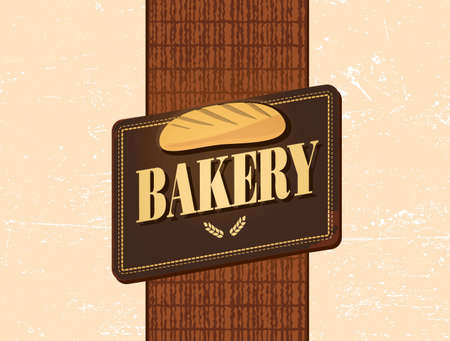 rye bread: retro bakery design