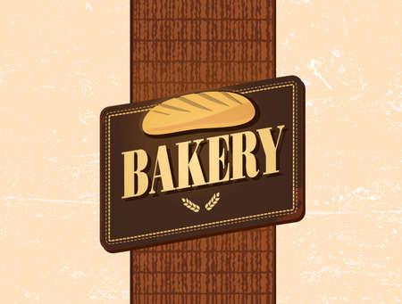 bread loaf: retro bakery design