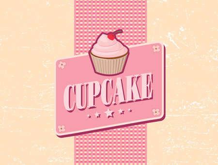 cupcake retro design Vector