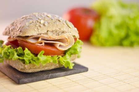 healty: healty chicken sandwich Stock Photo