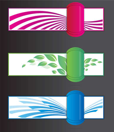 protruding: Colorfull banners with depht