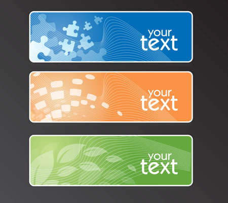 Banners abstract Vector