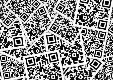 bar code: Pile of qrcodes Stock Photo