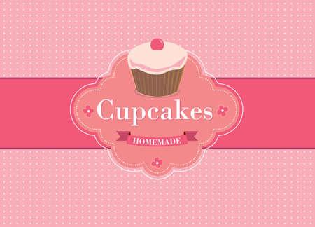 Hintergrund Retro Cupcake Standard-Bild - 14221156